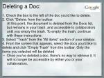 deleting a doc