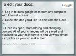 to edit your docs