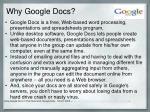 why google docs