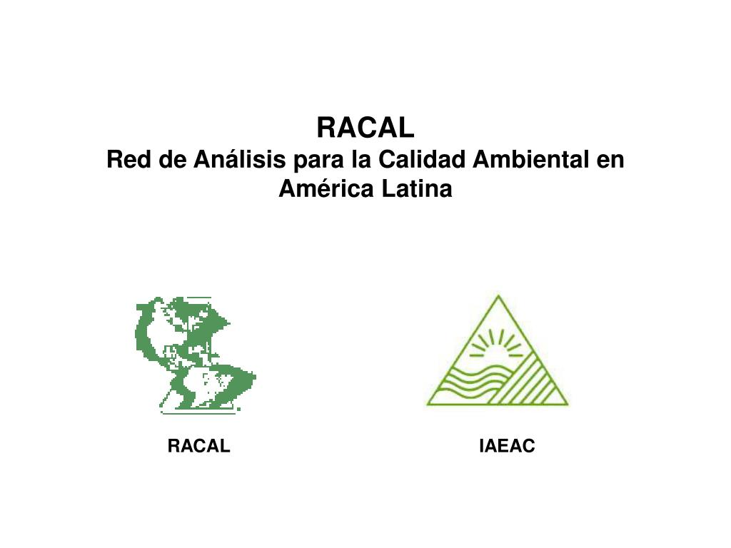 racal red de an lisis para la calidad ambiental en am rica latina l.