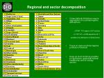regional and sector decomposition