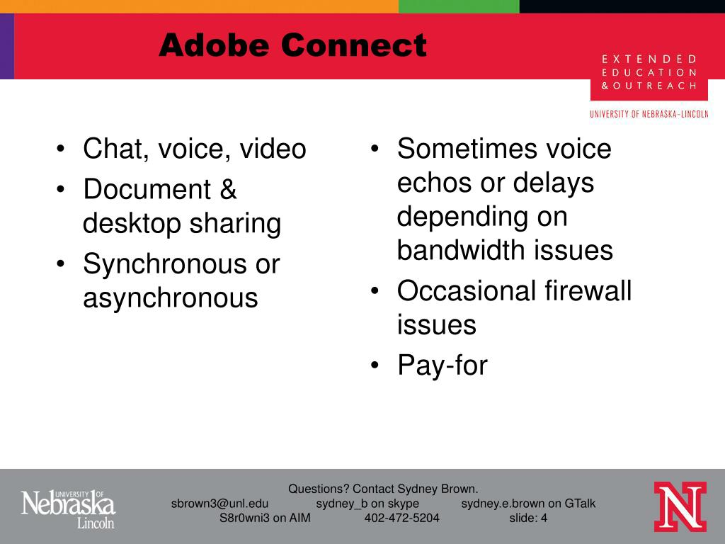 Chat, voice, video