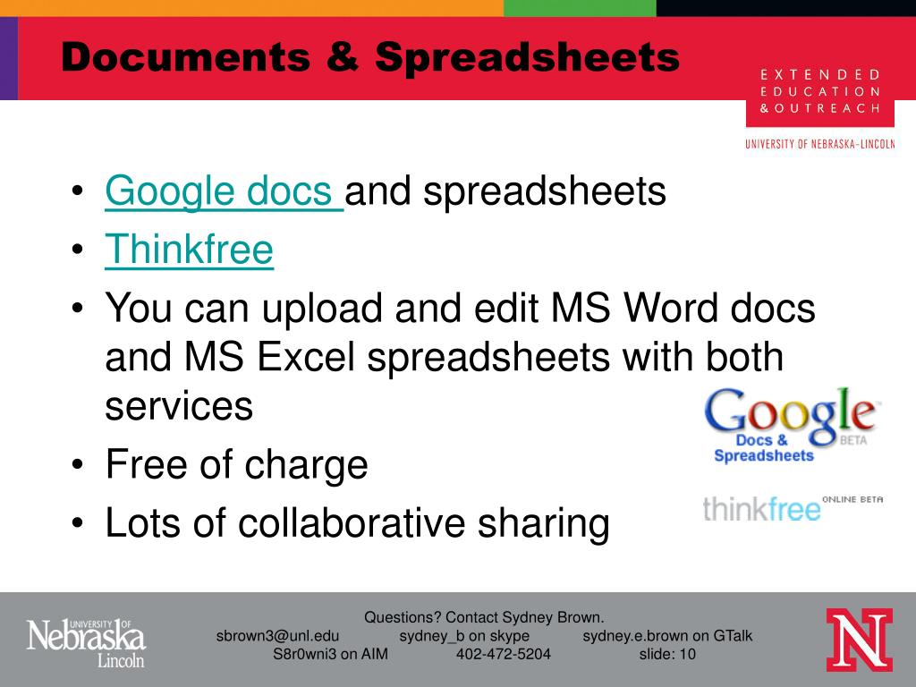 Documents & Spreadsheets