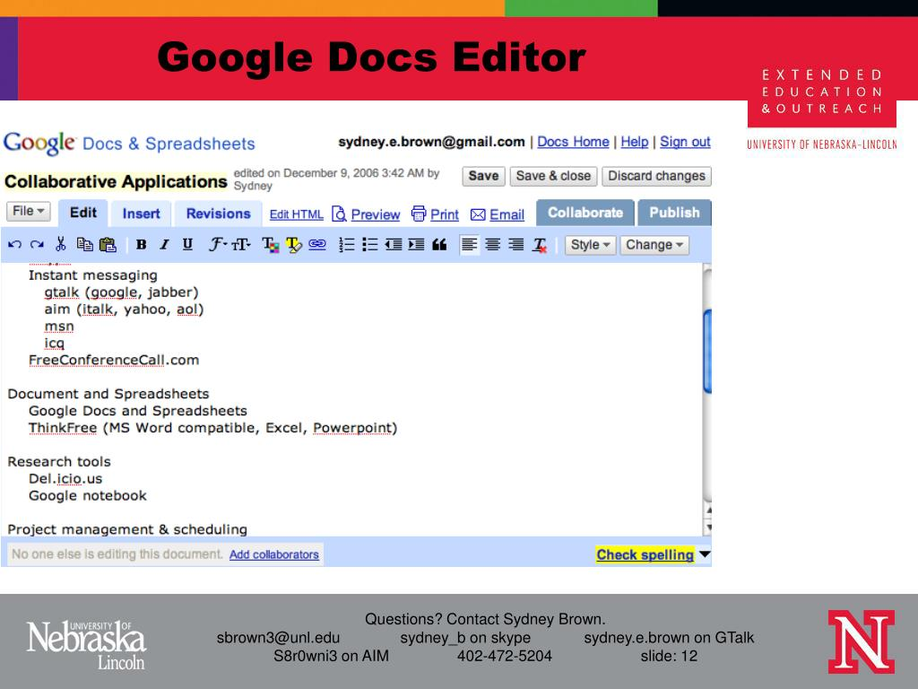 Google Docs Editor