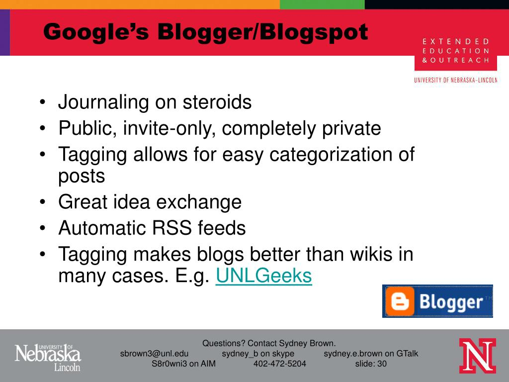 Google's Blogger/Blogspot