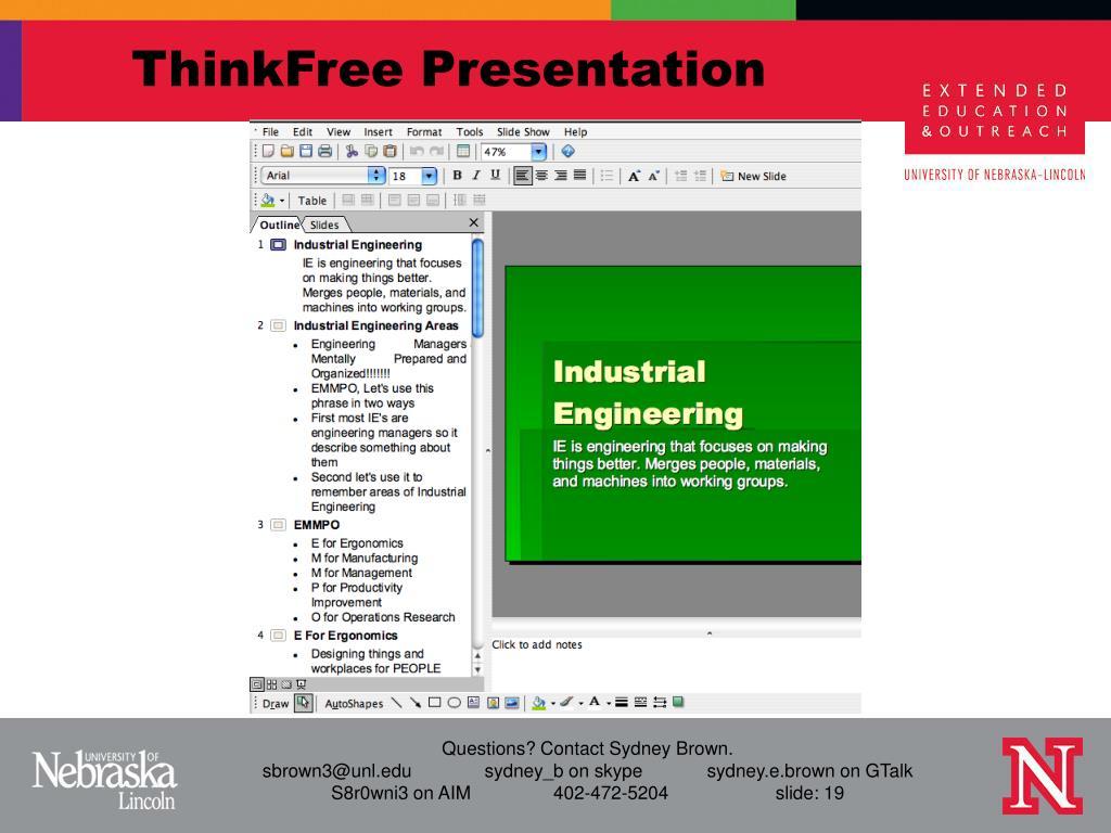 ThinkFree Presentation