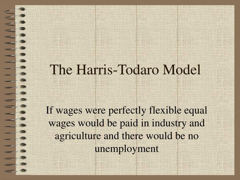 the harris todaro model l.