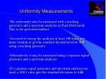 uniformity measurements