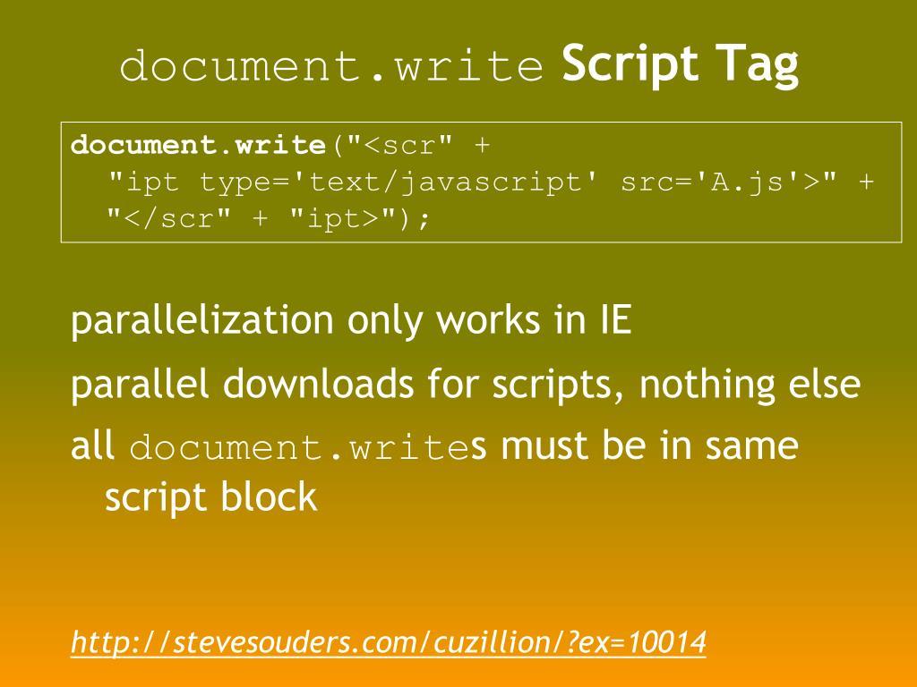 document.write