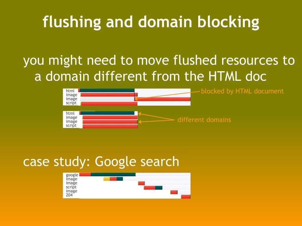 flushing and domain blocking