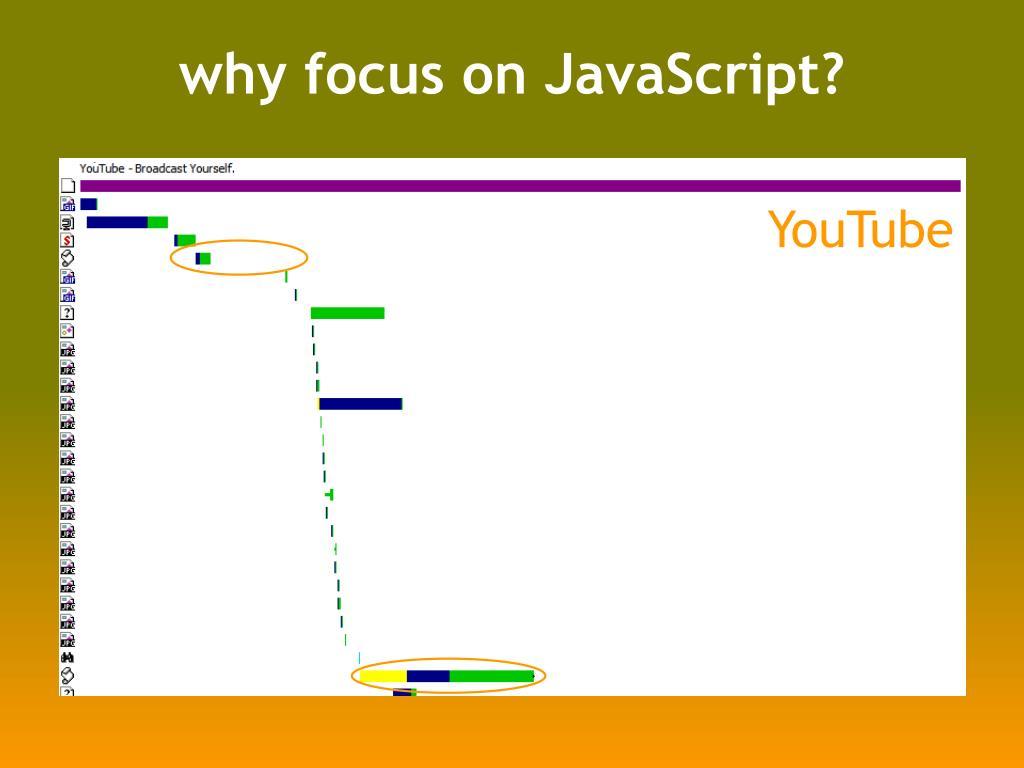 why focus on JavaScript?