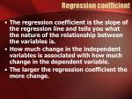 regression coefficient