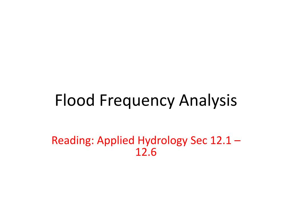flood frequency analysis l.