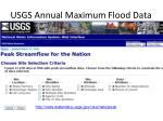 usgs annual maximum flood data