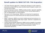 benefit updates for gbas cat ii iii faa acquisition