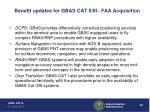 benefit updates for gbas cat ii iii faa acquisition52