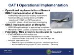 cat i operational implementation