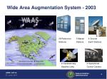 wide area augmentation system 2003