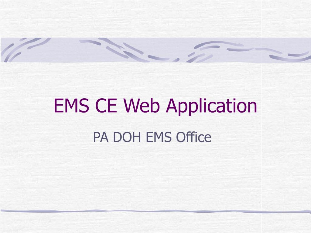 ems ce web application l.