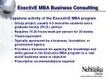 exective mba business consulting