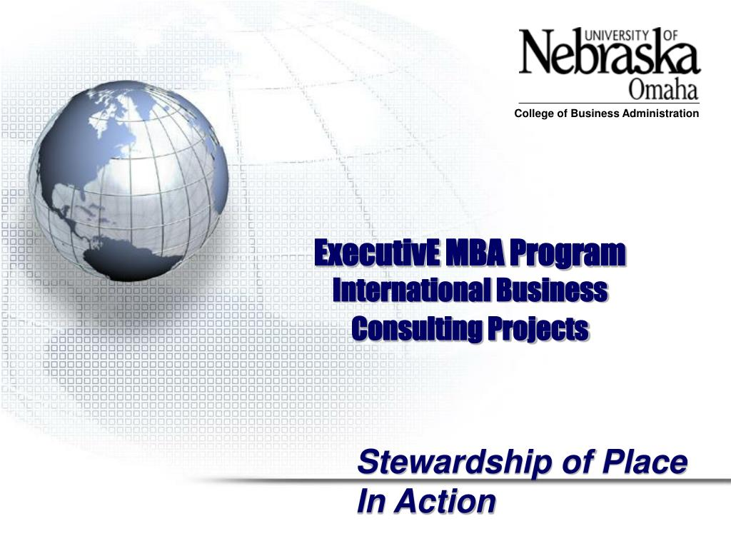 executive mba program international business consulting projects l.