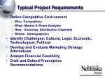typical project requirements