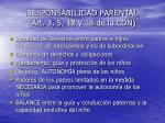 responsabilidad parental art 3 5 12 y 18 de la cdn