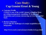 case study cap gemini ernst young