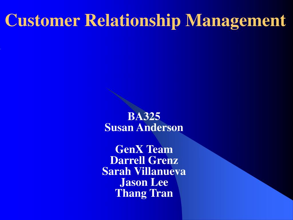 customer relationship management l.