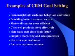 examples of crm goal setting