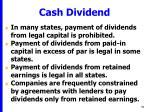 cash dividend51