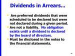 dividends in arrears