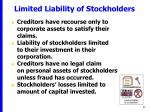 limited liability of stockholders