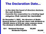 the declaration date