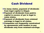 cash dividend31