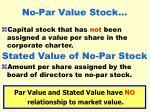 no par value stock