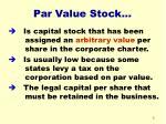 par value stock