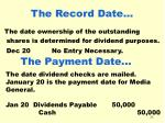 the record date