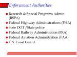 enforcement authorities