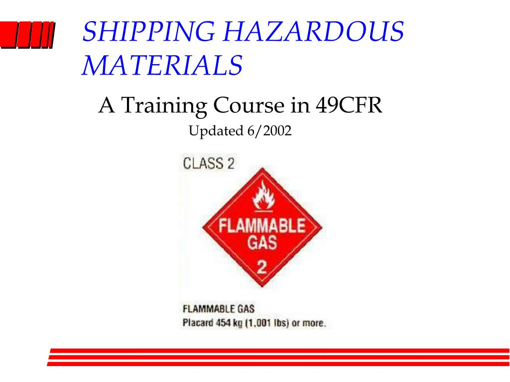 shipping hazardous materials l.