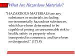 what are hazardous materials