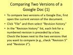 comparing two versions of a google doc 1
