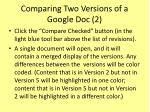 comparing two versions of a google doc 2