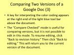 comparing two versions of a google doc 3