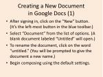 creating a new document in google docs 1