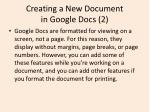 creating a new document in google docs 2