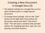 creating a new document in google docs 3