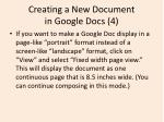 creating a new document in google docs 4