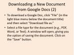 downloading a new document from google docs 2
