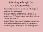 e mailing a google doc as an attachment 1